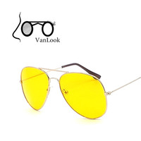 Night Driving Sunglasses For Women Sun Glasses Men Oculos de Sol Feminino Brand Designer Fashion Yellow Lenses