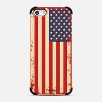 Retro style USA flag on beautiful wood iPhone 5s case by Bruce Stanfield | Casetify
