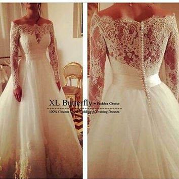 Real photo very Sexy Backless flowers romantic A Line Wedding Dresses vestidos de noiva robe de mariage get a free veil