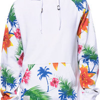 Empyre Panama White Tropical Print Pullover Hoodie at Zumiez : PDP