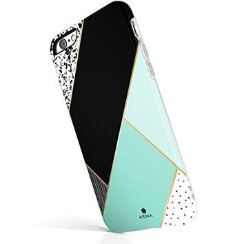 "iPhone 6 6s case for girls, Akna New Glamour Series [All New Design] Flexible Soft TPU cover with Fabulous Glossy Pattern for both iPhone 6 & iPhone 6s(4.7""iPhone) [Mint Green Composition](U.S)"
