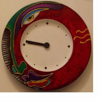 Hand Painted Clock #4