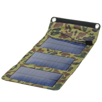 Camouflage Army Folding Solar Panel
