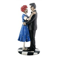 50's Skeleton Couple Statuette by Summit Collection