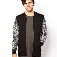 ASOS | ASOS Bomber With Printed Sleeves at ASOS