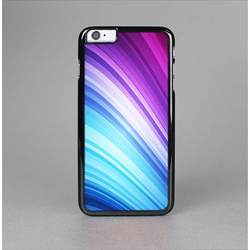 The Pink and Blue Glowing Neon Wave Skin-Sert Case for the Apple iPhone 6