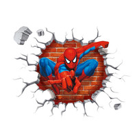 3d Cartoon Spiderman wall stickers for kids rooms home decor Kids Nursery Wall Decals Home decoration Boy room gift Wallpaper SM6
