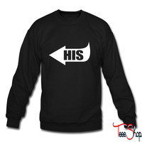 His Pointing Left crewneck sweatshirt