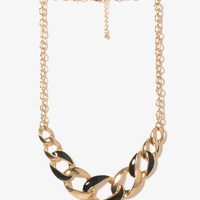 Lacquered Curb Chain Necklace