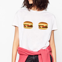 Hamburger Boob T-Shirt