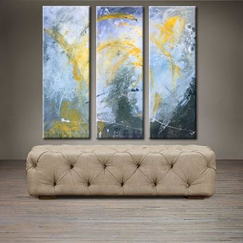 """'April 004' - 36"""" X 30"""" Original Abstract  Art. Free-shipping within USA & 30 day return Policy."""