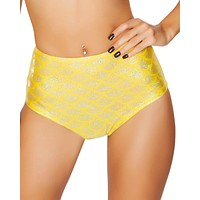 Yellow Mermaid High-Waisted Scrunch Booty Shorts