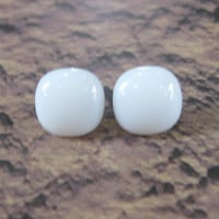White Earrings, Post Earings, Hypoallergenic, White Jewelry, Earring Jewelry - Harlowe - 1522 -3
