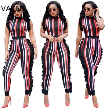 2018 Sleeveless Fashion Ladies Sexy Bodycon Costume Sleeve O-neck Women Jumpsuits