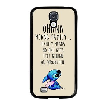 STITCH LILLO OHANA FAMILY QUOTES Samsung Galaxy S4 Case Cover