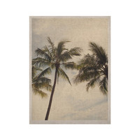 "Catherine McDonald ""Boho Palms"" Coastal Trees KESS Naturals Canvas (Frame not Included)"