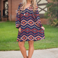 Eye On You Dress, Navy
