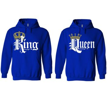 Royal King and Queen Royal Blue Hoodie