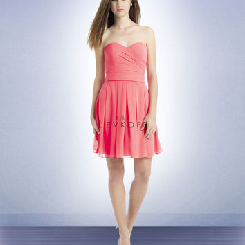 Bill Levkoff Short Chiffon Bridesmaids Dress 719