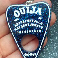 Ouija Oracle Pendant / OUIJA Planchette Necklace / Quija Jewelry / Creepy Gothic Fashion / Halloween Accessories / Ouija Board