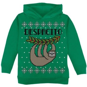 CREYCY8 Despacito Means Slowly Sloth Funny Ugly Christmas Sweater Toddler Hoodie