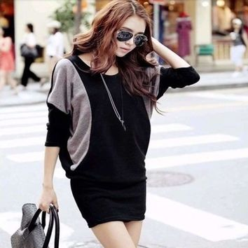 Fashion Oversized Knitted Sweater Dress
