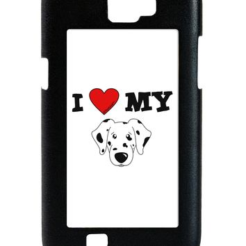 I Heart My - Cute Dalmatian Dog Galaxy Note 2 Case  by TooLoud