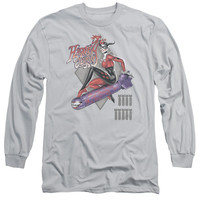 Harley Quinn Harleys the Bomb Silver Long-Sleeve T-Shirt