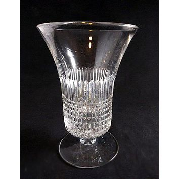 Horizontal And Vertical Cut Glass Vase