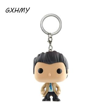 Supernatural Castiel Action Figures Children Toy Keychain With Retail Box
