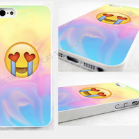 case,cover fits iPhone models>Tie Dye,crying, Emoji,emojis,bright,smiley,heart