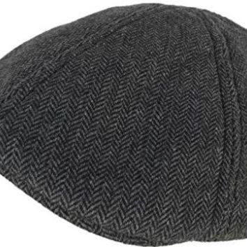ICIK8X2 Timberland Herringbone Duck Bill Driver Hat (Grey / M/L)