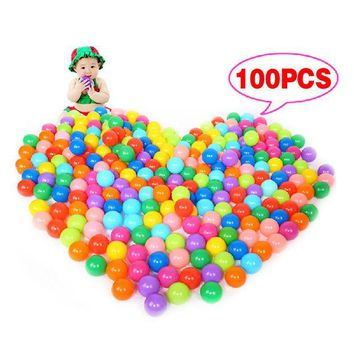 VONC1Y 100Pcs Colorful Ball Ocean Balls Soft Plastic Ocean Ball Baby Kid Swim Pit Toy  High Quality