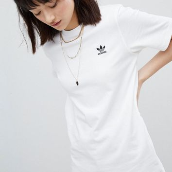adidas Originals Embroidered Shirt In White