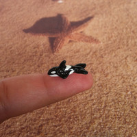Micro Miniature Orca Whale/Killer Whale by TwinsieBopShop on Etsy