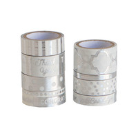 White & Silver Washi Tube By Recollections™