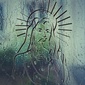 Jesus After the Resurrection with Halo Vinyl Wall Decal - Permanent Sticker