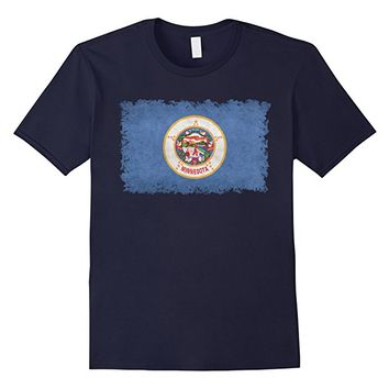 Minnesota State Flag T-Shirt in Vintage Retro Style