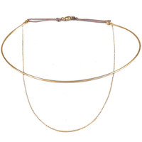 Dafne | Choker and Chain Bangle Necklace