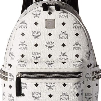 MCM Women's Small Side Stark Backpack, Cognac, One Size