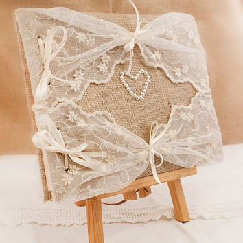 Wedding Guest Book - Rustic, Romantic, Retro,  Elegant Weddings