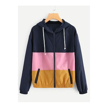 Maddie Colorblocked Windbreaker