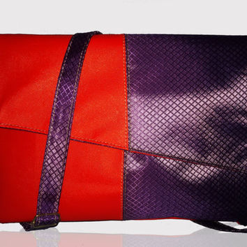 suicidé squad halloween costume Bags- Harley Quinn Crossbody Bags - Red Purple