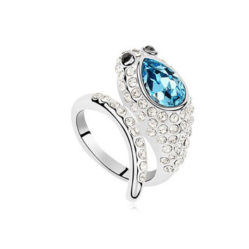 Stylish Jewelry Gift Shiny New Arrival Luxury Crystal Accessory Ring [4989642628]