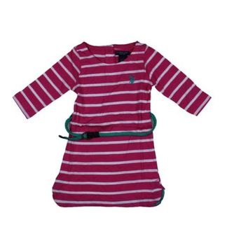 U.S. Polo Assn. Girls Striped Tunic Top