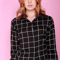 On The Grid Blouse