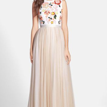 Women's Needle & Thread 'Trailing Floral' Embellished Gown