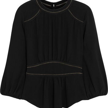 Isabel Marant - Wiley pointelle-detailed crepe top