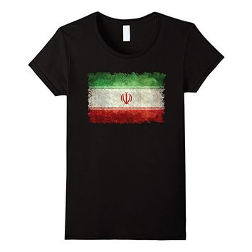 Iranian Flag T-Shirt in Vintage textures