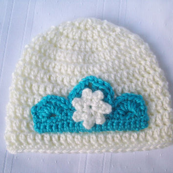 Crochet Elsa Inspired Baby Hat // Newborn Crochet Hat // Photography Prop